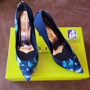 Ted Baker Kawaap 5 Butterfly Blue Heels